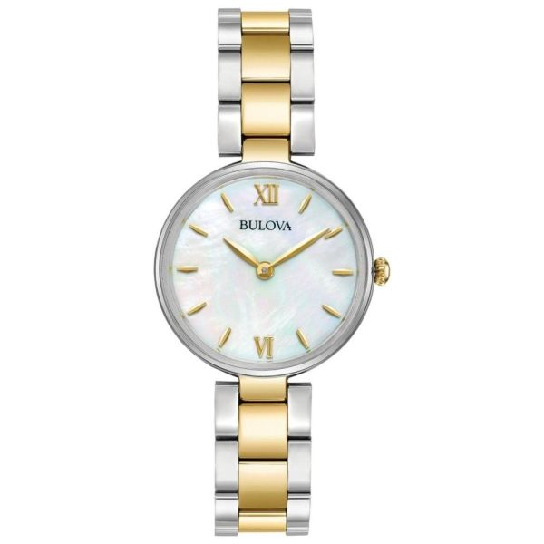 Bulova Ladies Designer Watch Stainless Steel Bracelet - 98L226