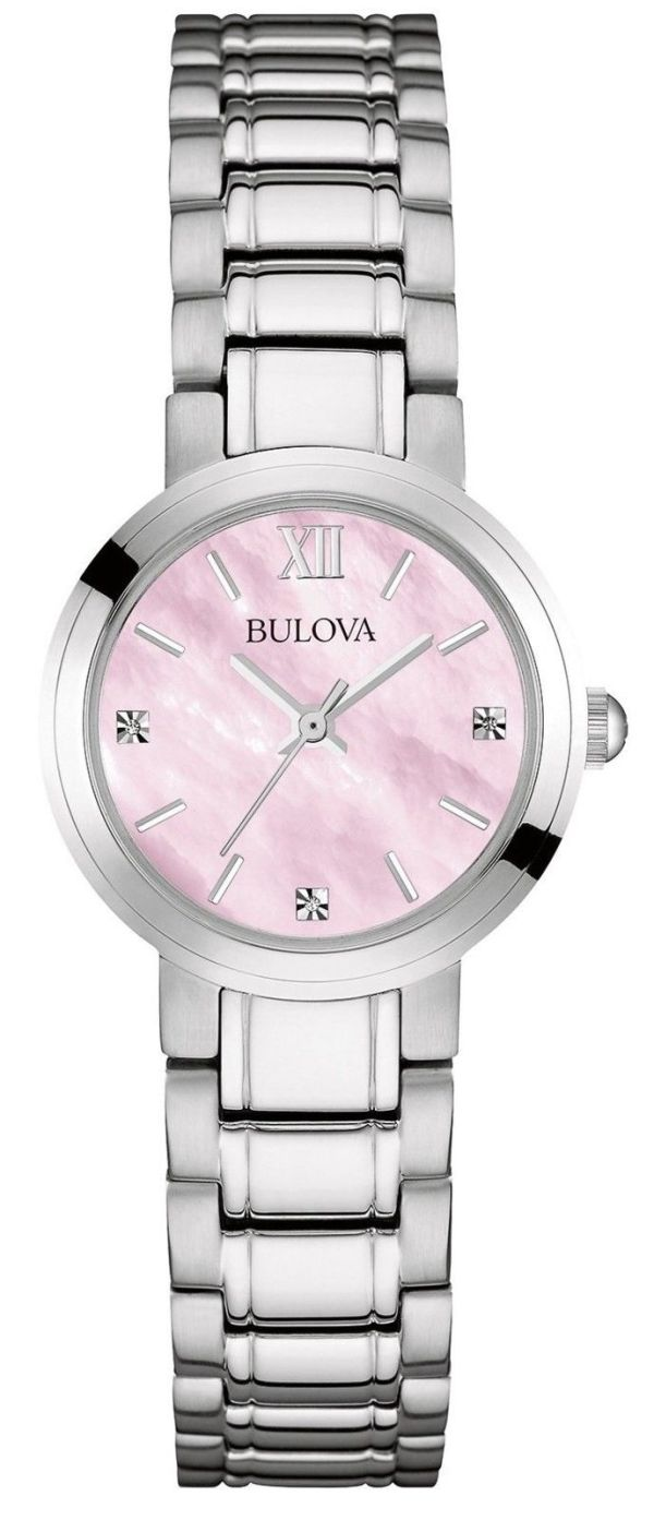 Bulova Women's Diamond Quartz Watch with Mother of Pearl Dial Analogue Display