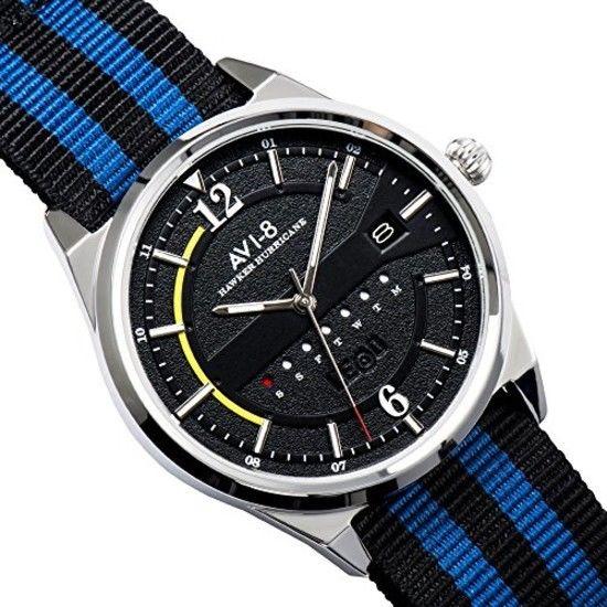 AVI-8 Hawker Hurricane Black Dial Mens Watch 4044-02 3