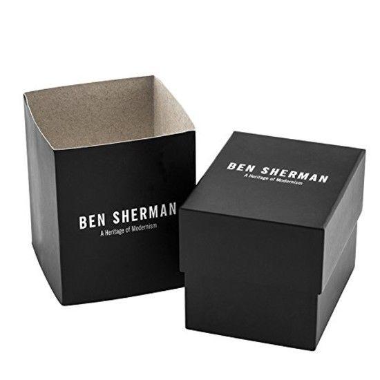 Ben Sherman Men's Quartz Watch with Black Dial Analogue Display & Brown Leather 2