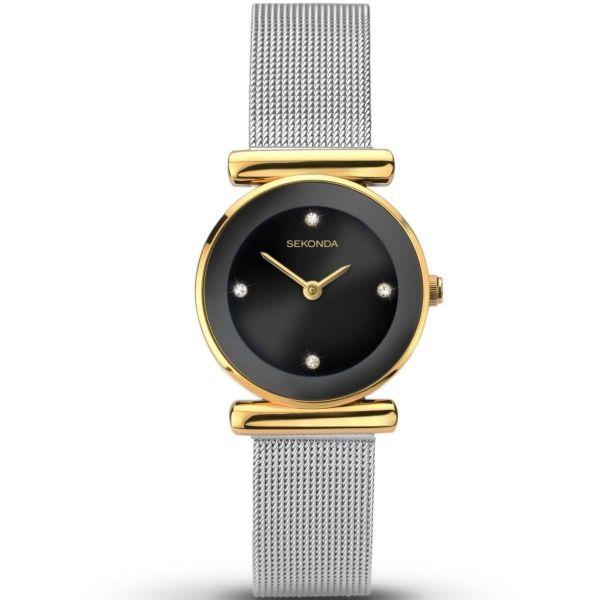Sekonda Ladies Gold Plated Mesh Bracelet Watch 2459