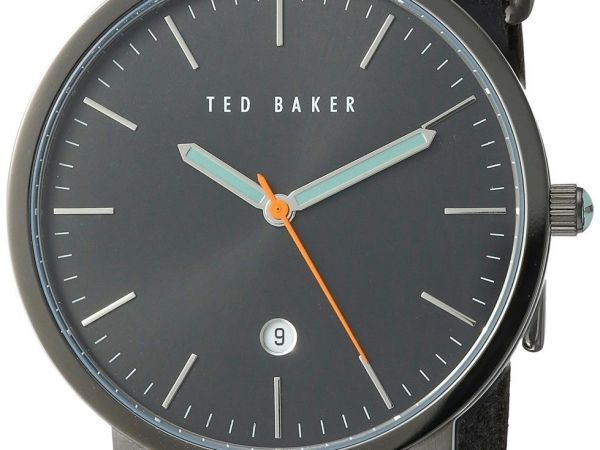 Ted Baker Men's 'Smart Casual' Quartz Stainless Steel and Leather Dress Watch