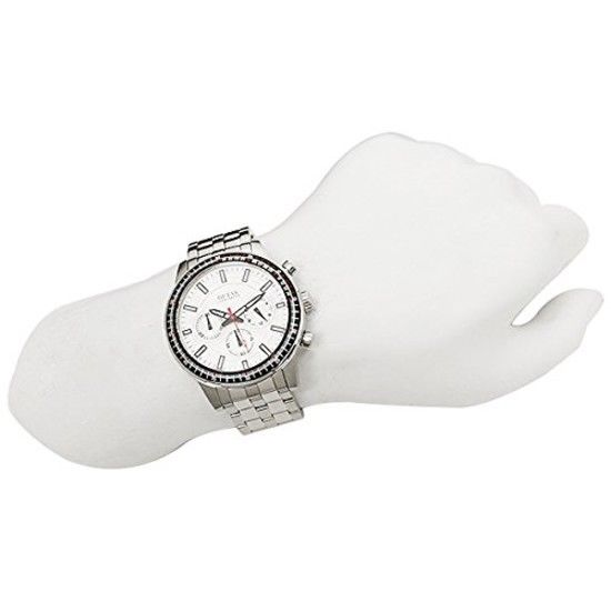 Guess Mens Quartz Watch, Chronograph Display and Stainless Steel Strap W0801G1 2