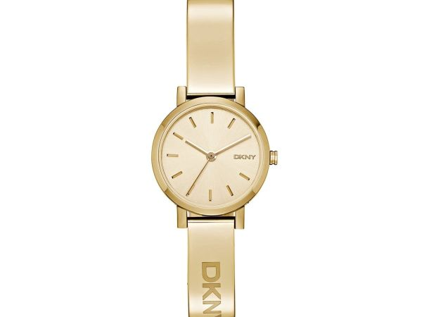 DKNY (DNKY5) Women's Quartz Watch with Gold Dial Analogue Display and Gold Stain