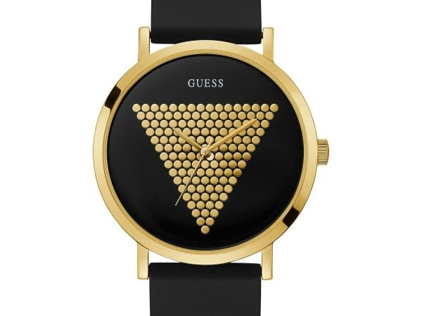 Guess Mens Analogue Classic Quartz Watch with Silicone Strap W1161G1