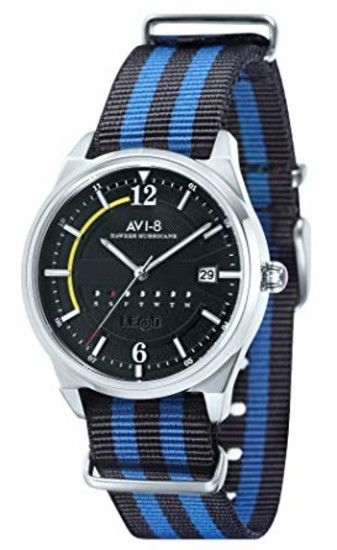 AVI-8 Hawker Hurricane Black Dial Mens Watch 4044-02 1