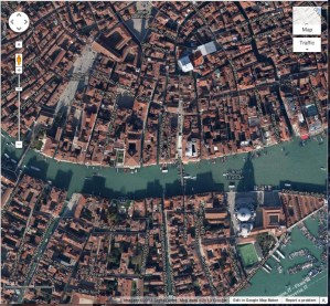 Google Maps view of Venice
