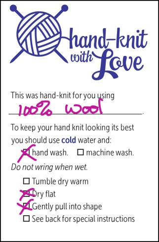 Knitting Care Label.indd