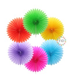 Abanico de colores, set 4 unidades