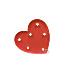 Corazón Rojo con Luz LED