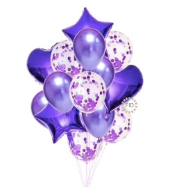 Globo Bouquet Morado set14