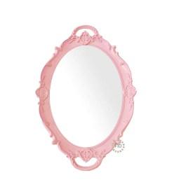 Bandeja Circular Rosado con Espejo