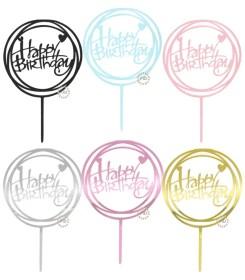 Topper Circular Happy Birthday