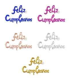 Globo Feliz Cumpleaños Cursiva