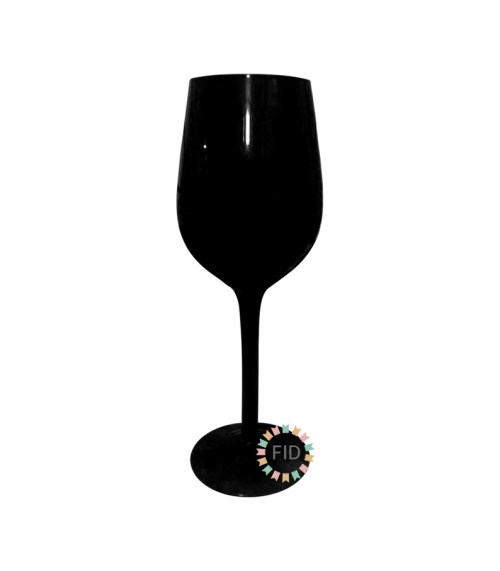 Copa de Vidrio Negro