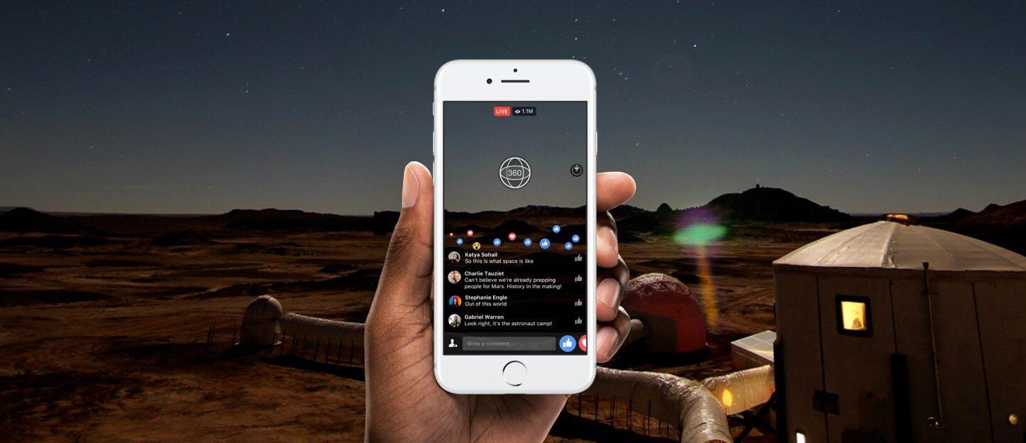 Facebook ermöglicht 360° LIVE Streams