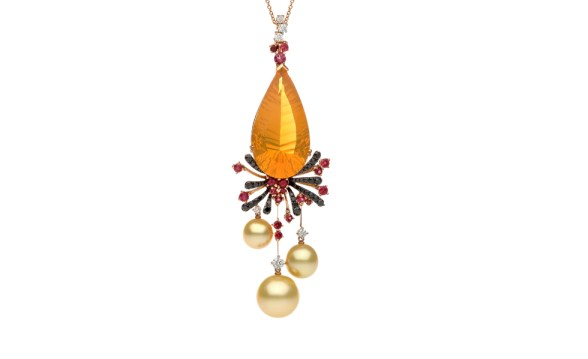 Autore-Fire-Ice-Fiery-Lava-rose-gold-South-Sea-pearl-red-spinel-fire-opal-and-black-and-white-diamond-necklace