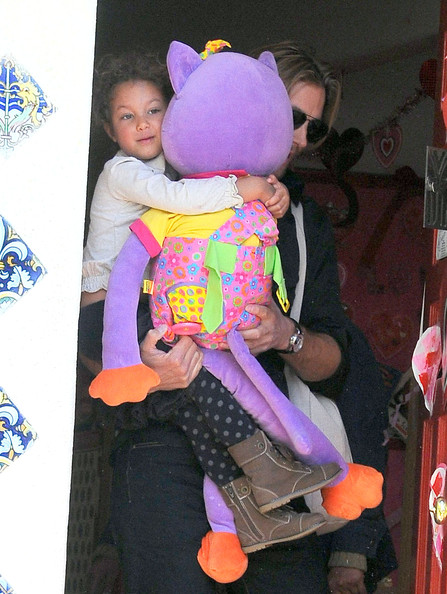 Gabriel Aubry with her daughter Nahla