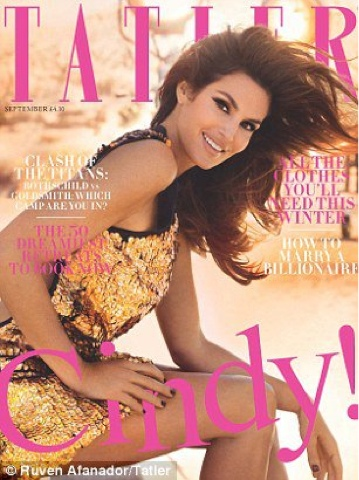 Cindy Crawford for Tatler UK September 2012