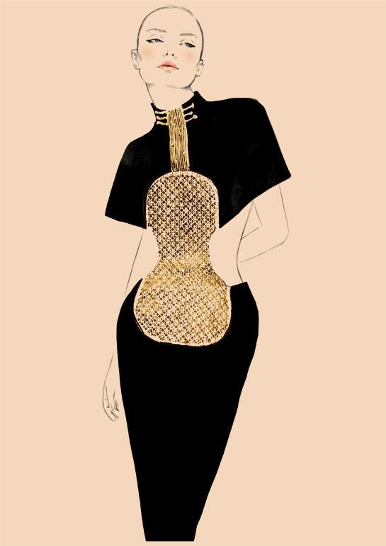 chloé 60 Violon dress