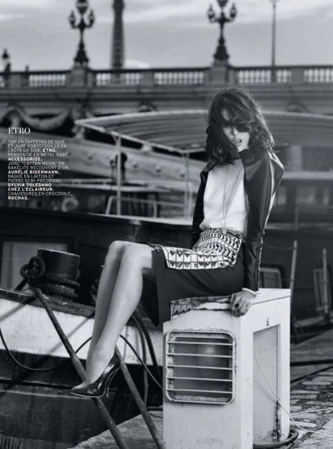 Ruby Aldridge At L'Officiel Magazine