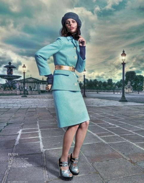 Ruby Aldridge At L'Officiel Magazine