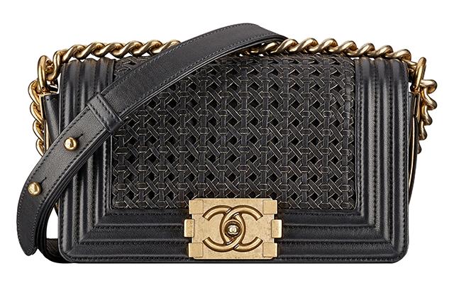 Chanel-Boy-Small-Braided-Bag-Black