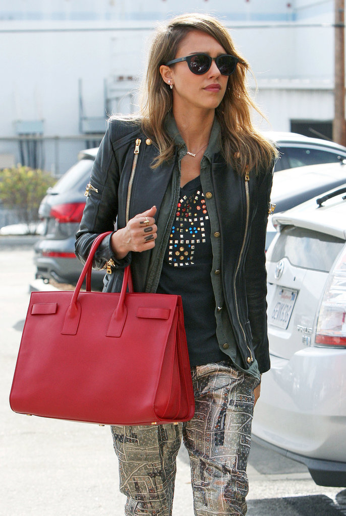 Jessica-Alba-went-bold-picking-cherry-red-style-rather-than