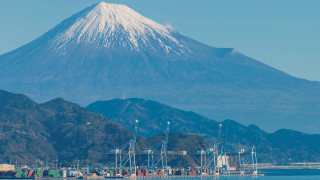 Shimizu Port looking to Fuji and connecting to the world