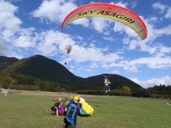 スカイ朝霧 パラグライダー/Paragliding In Sky Asagiri