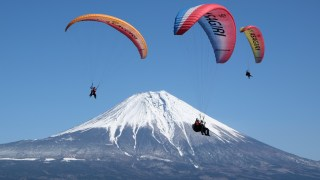 SKY ASAGIRI; Excellent Flight In The Sky Right In Front Of Spectacular Mt.Fuji!