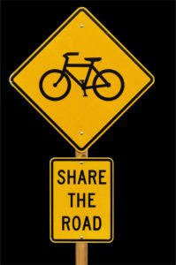 avoid a bicycle accident: share the road