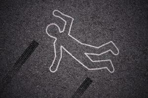 hit-and-run pedestrian accident mock scene