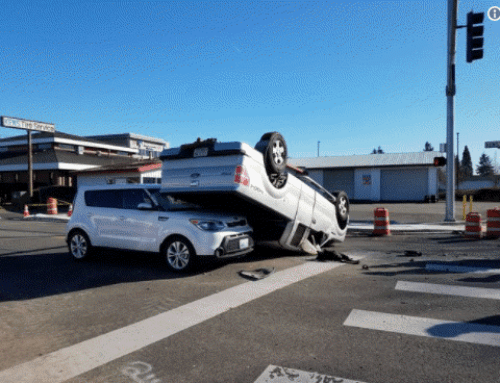 Truck Flips Over, Causes Car Accident in Lakewood