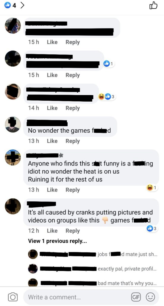 Facebook group post