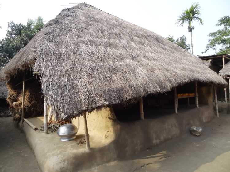 Traditional earth house in Bangladesh
