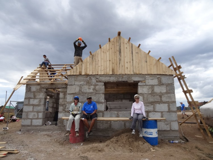 Some of our team members at the Global Village build