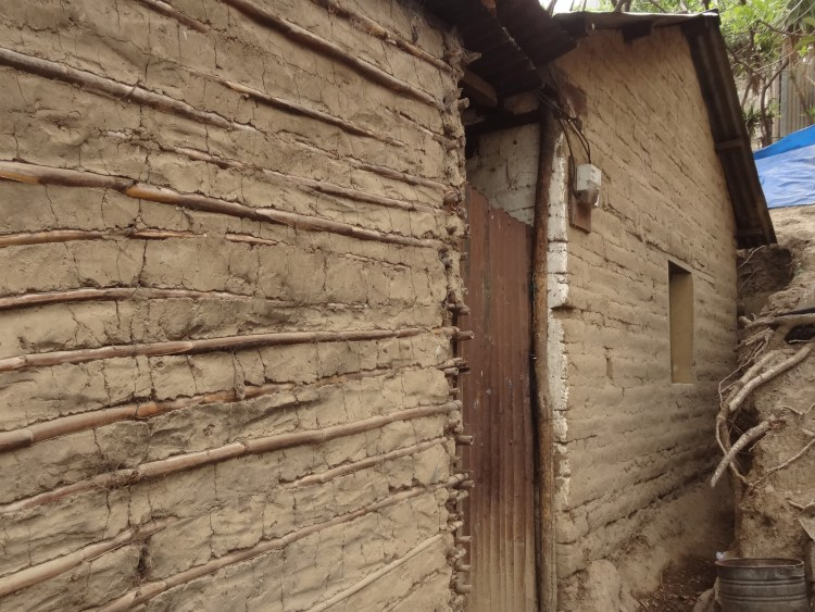 Bajareque and adobe houses in Guatemala