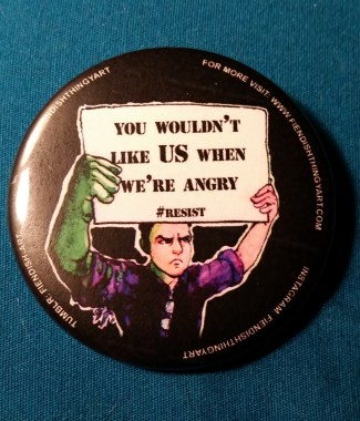 Bruce Banner #Resist Button