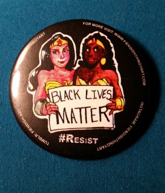 Diana and Nubia #Resist Button