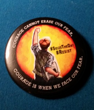 Newsies #Resist Button