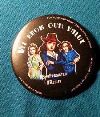 Agent Carter #Resist Button