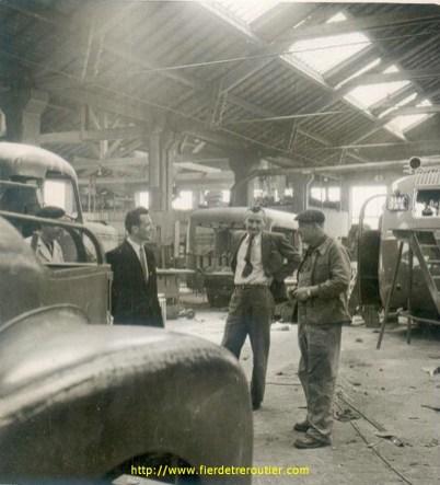 Mr Frappa en bleu à droite, au milieu le directeur commercial Mr Luquet de St Germain