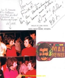 Pendant l'emission RTL Les Routiers sont Sympas avec Max Meynier en 1977.