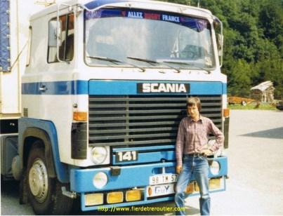 Mes premiers voyages en Scania141 chez Transak