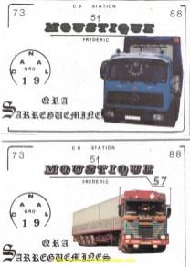 Deux cartes de QSL CB
