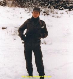En manoeuvre dans l'hiver glacial de 84/85