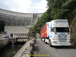 BP TRÄNS livraison barrage de Bord les Orgues