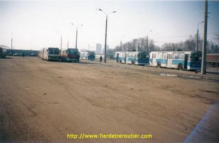 Une gare routière, en Russie.