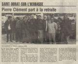 Mars 1997 : Pierrot Clément s'en va en retraite ...